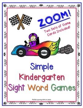Sight Word Game ZOOM! Kindergarten Small Groups & RTI!