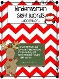 Kindergarten Sight Word Games - December