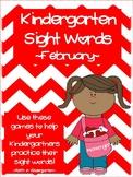 Kindergarten Sight Word Games - February