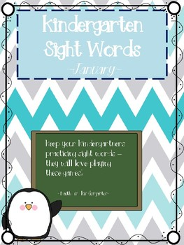 Kindergarten Sight Word Games - January