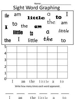 Kindergarten Sight Word Graphs Scott Foresman Reading Street