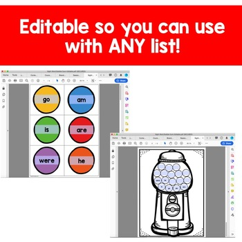 Kindergarten Sight Words: An Editable Progress Monitoring System