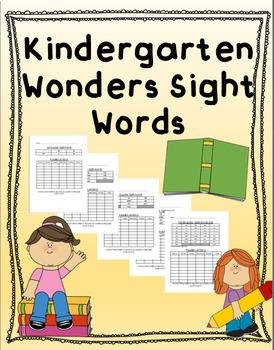 EDITABLE Kindergarten Sight Word Home Practice (Wonders)