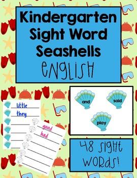 Kindergarten Sight Word Identifying and Writing Activity English