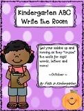 Kindergarten Sight Word  & Letter Identification Write the