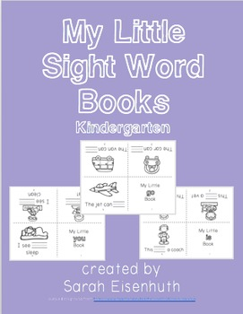 Kindergarten Sight Word Little Books