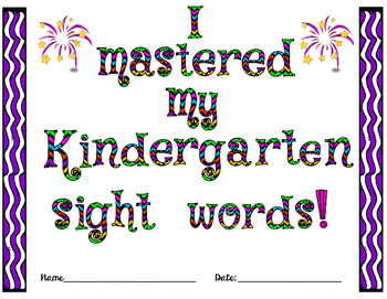 Kindergarten Sight Word Mastery