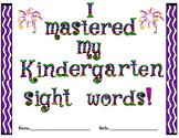 Kindergarten Sight Word Mastery