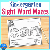 Kindergarten Sight Word Maze Worksheets