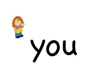 Sight Word Memory Game for Kindergarten