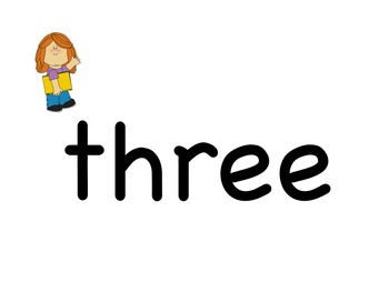 Kindergarten Sight Word Memory Game