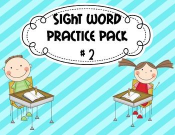 Kindergarten Sight Word Pack #2