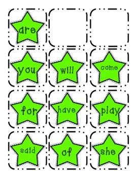 Kindergarten Sight Word: Pack C