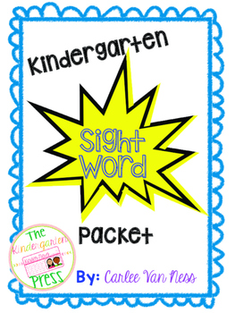 Kindergarten Sight Word Packet