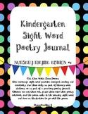 Kindergarten Sight Word Poetry Journal - Nursery Rhyme Edition Set #1