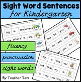 Sight Words Kindergarten & Boom Cards | Kindergarten Sight Word Sentences