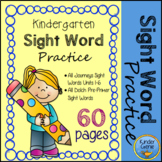 Kindergarten Sight Word Practice - Journeys and Dolch
