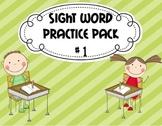 Kindergarten Sight Word Practice Pack