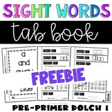 Kindergarten Sight Word Practice Pages