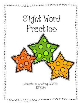 Kindergarten Sight Word Practice: Read and Write