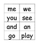 Freebee Kindergarten Sight Word Flash Cards