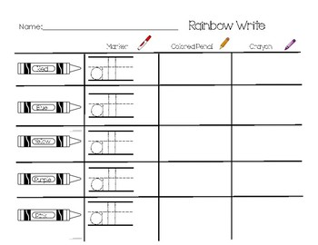 Sight Word Rainbow Write Pack