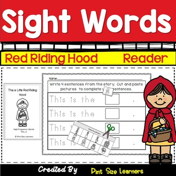 Kindergarten Sight Word Reader and Pocket Chart Cards Little Red Riding Hood