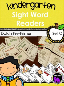 Kindergarten Sight Word Readers: Dolch Pre-Primer Set C