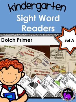 Kindergarten Sight Word Readers: Dolch Primer Set A