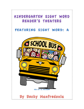 Kindergarten Sight Word Readers Theaters