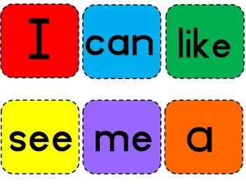 Kindergarten Sight Word Reading Flash Cards on a ring! Learning that's fun!