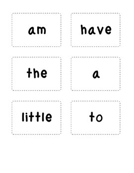 Kindergarten Sight Word Ring