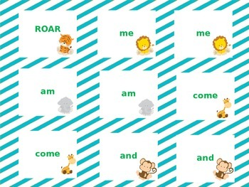 Kindergarten Sight Word Safari Game