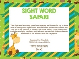 Kindergarten Sight Word Safari Game Set #2