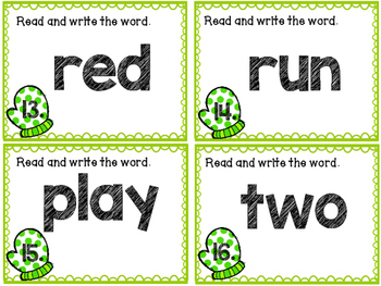 Kindergarten Sight Word Scoot {Set 2}