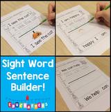 Sight Word Sentence Builders for Kindergarten: Set 1