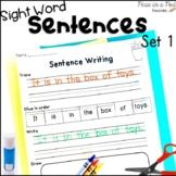 Kindergarten Sight Word Sentences Cut and Paste Sentences Set 1