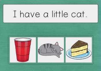 Kindergarten Sight Word Sentences DIGITAL Task Cards BOOM CARDS