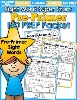 Kindergarten Sight Word Sentences and Games for Guided Reading Levels A