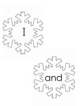 Kindergarten Sight Word Snowflakes