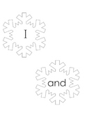 Kindergarten Sight Word Snowflakes