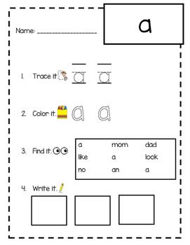 Kindergarten Sight Word / Spelling Word Practice