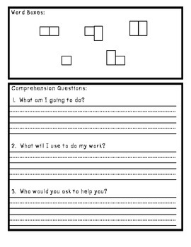 Kindergarten Sight Word Spelling and Reading Homework