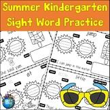 Kindergarten Sight Word Summer Practice