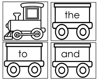 Kindergarten Sight Word Train - At Home Activity