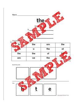 Sight Word Work 1-10