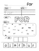 Kindergarten Sight Word Worksheet Bundle
