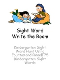 Kindergarten Sight Word Write the Room