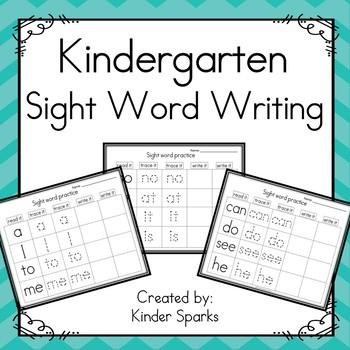 Kindergarten Sight Word Writing