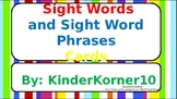 Kindergarten Sight Word and Sentence Flashcards